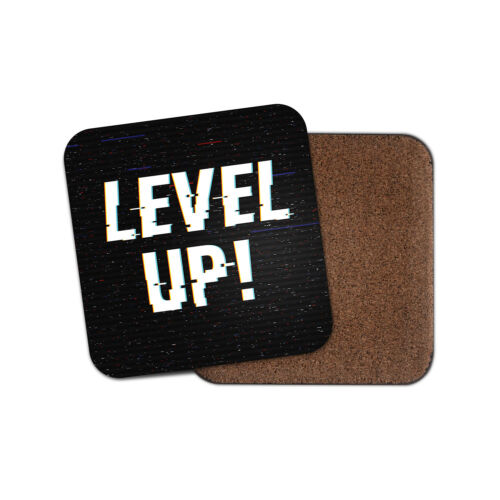 Video Game Gamer Gaming Teen Boys Son Fun Gift #14718 Awesome Level Up Coaster