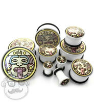 Pair Of Mayan Plugs - Single Flare (6g - 1 Inch) Sizes / Gauges