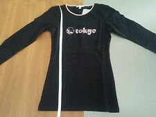Asics Fitnessshirt XS Sportshirt Tanzshirt langarm schwarz