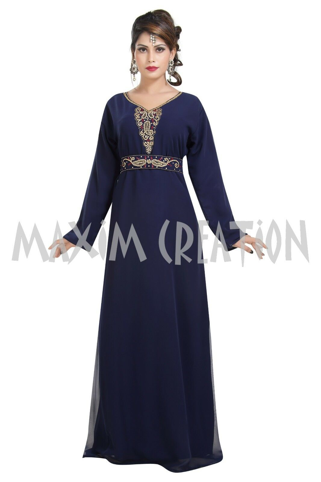 ROYAL DUBAI MgoldCCAN PARTY WEAR WEAR WEAR HAND MADE EMBROIDERY FOR WOMEN 6250 4749a8