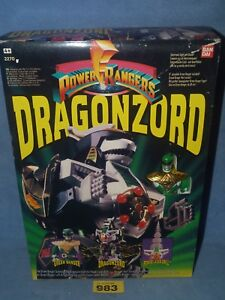 Power Rangers Tommys Deluxe Mmpr    Megazord 100% 983  dragonzord