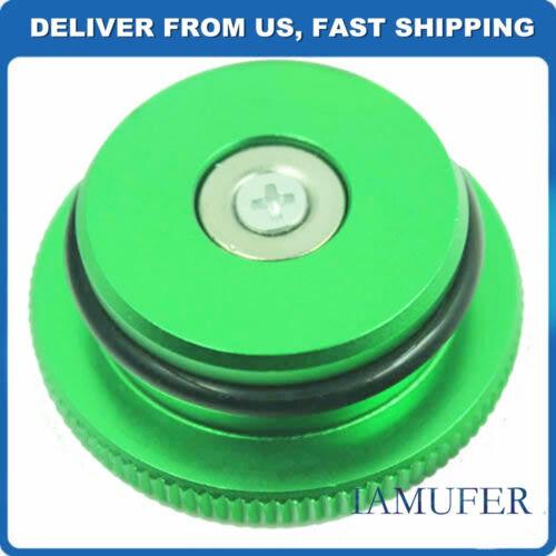 Billet Aluminum Fuel Cap Magnetic Green FOR Dodge Ram Diesel 2013-2016
