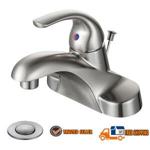 Bathroom Faucet Brushed Nickel 4 Inch