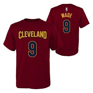 online store 52a3e ab155 Details about Dwyane Wade T Shirt Cleveland Cavaliers #9 NBA Youth Boys  Name & Number T-Shirt