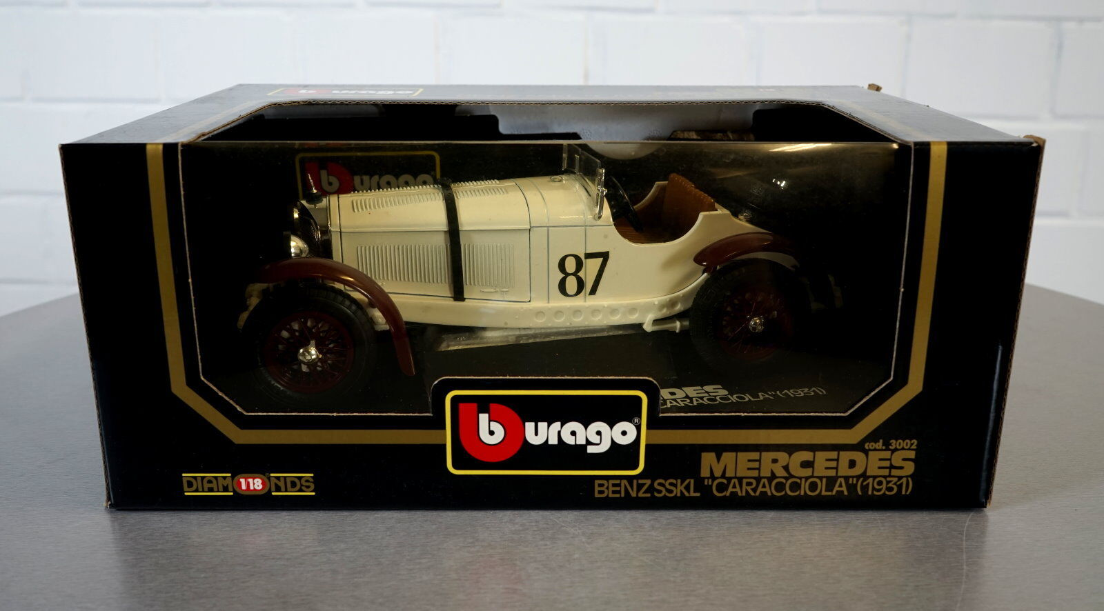 Burago Burago Burago 1 18 Mercedes Benz SSKL Caracciola (1931) -3002- Die-Cast Modell Auto OVP  | Toy Story  b348a4