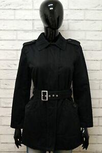 Cappotto-BENETTON-Taglia-M-Giubbino-Giubbotto-Giacca-Jacket-Woman-Nero-Cotone