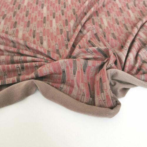 50cm Designer Single-Jersey Intelock weicher Stoff aus Baumwolle für Kleider