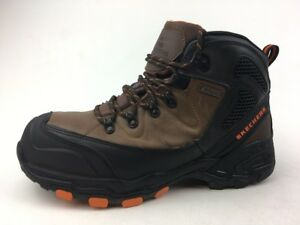8c3bfa3e64e Details about Skechers Work 77081 Surren Work Boots -Men's size 11, Brown  1009