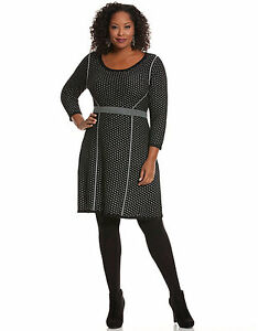 edebc78051f Image is loading NEW-LANE-BRYANT-PLUS-SIZE-PERFORATED-SWEATER-DRESS-