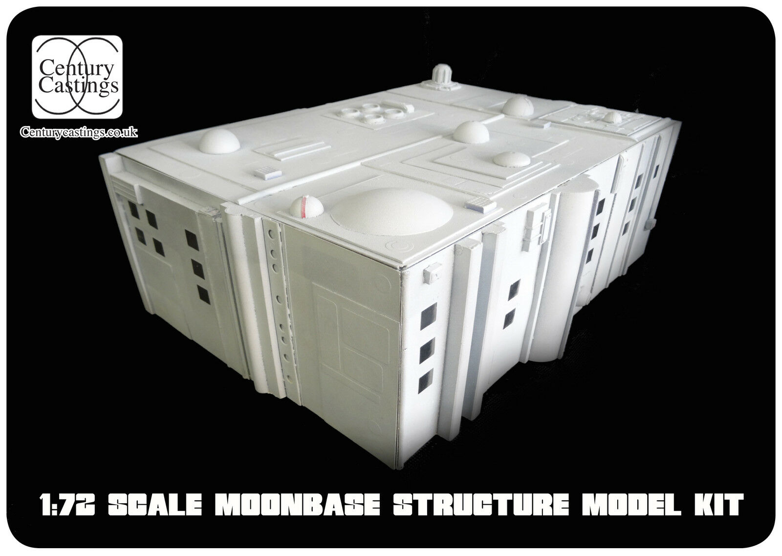 Space 1999 moonbase alpha building model kit 1 72 scale by century castings