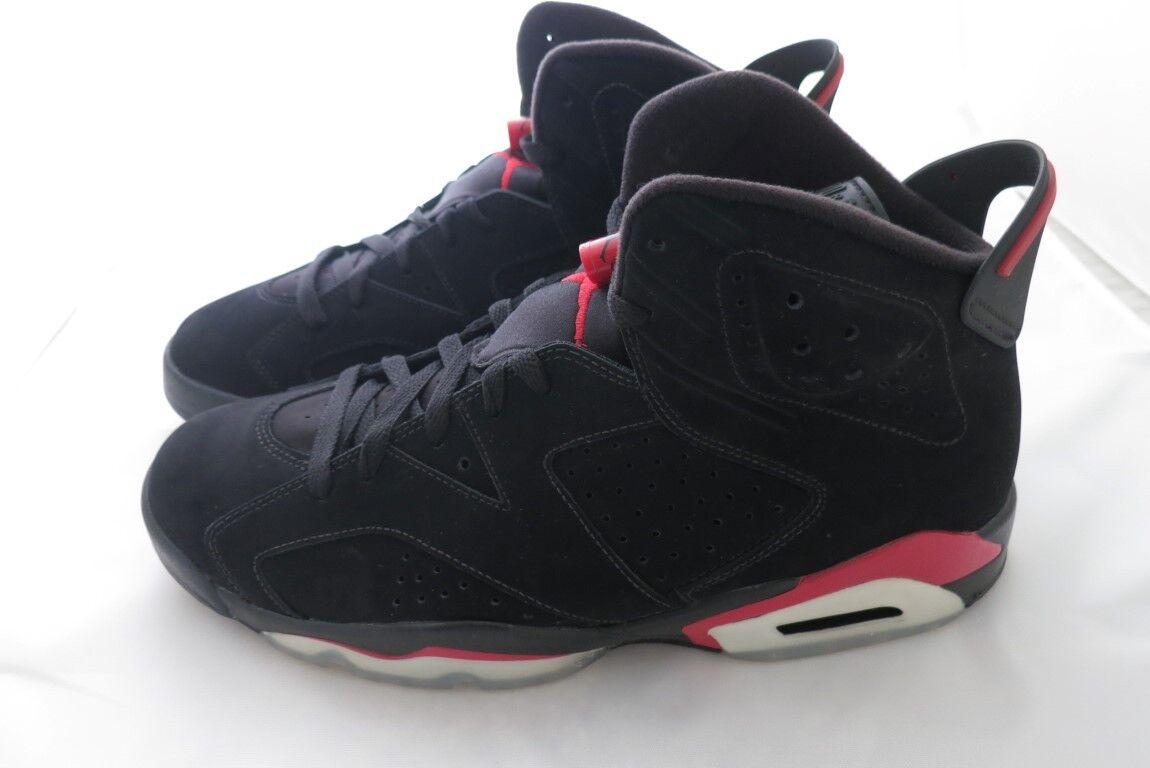 NEW Nike Air Jordan 6 VI Retro 2010 Black Infrared BRED Size 11 Mens 384664 061