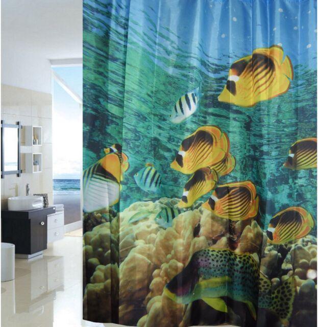 Tropical Fish Aquarium Fabric Shower Curtain New Free Shipping
