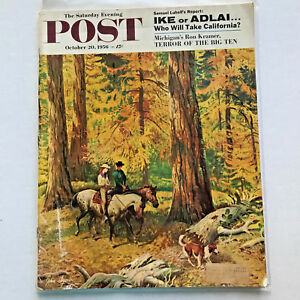 Saturday-Evening-Post-Magazine-October-20-1956-Ike-or-Adlai-Election-Complete