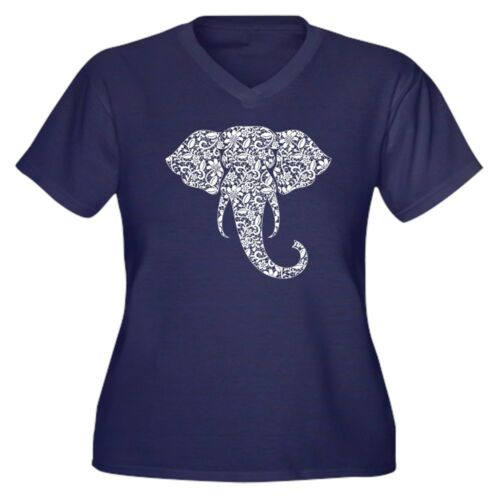 Size Cafepress Tee Plus neck Shirt V T Elephant Lace 1710862850 nZq8xwTrZt