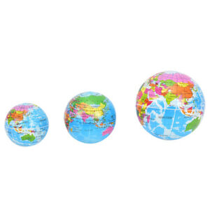 Stress-Relief-Vent-Ball-World-Map-Squeeze-Hand-Wrist-Exercise-Geograpy-Learn-TPI