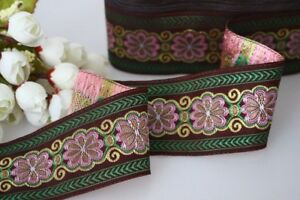 price for 1 yard Handmade Woven Jacquard ribbon 2 inch wide
