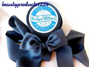 Vintage-Ribbon-3-Yds-1-1-2-034-CHARCOAL-GRAY-Millinery-Sewing-Couture-RAYON-NICE