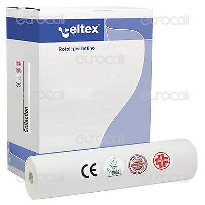 6 Rotoli Carta Lettino 60cmx80m Celtex Lenzuolino Medico 2 Veli Estetista Cera