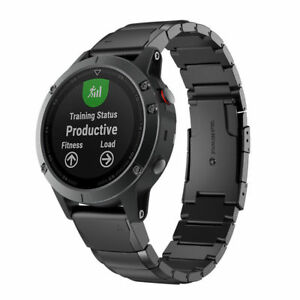 quick replacement band strap for garmin fenix 5x watch stainless steel bracelet 652731319656 ebay. Black Bedroom Furniture Sets. Home Design Ideas