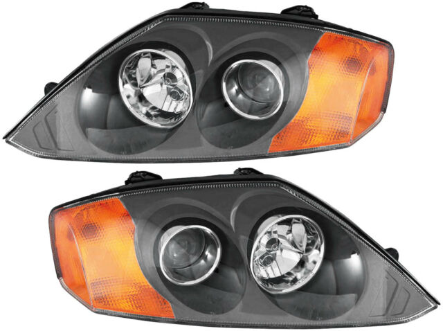 Headlights Headlamps Assembly W  Bulb New Pair Set For 03