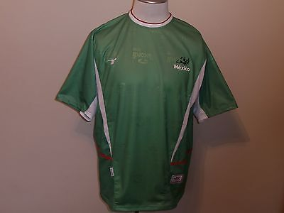competitive price 50341 b5049 MEXICO NATIONAL TEAM GREEN WHITE & RED SOCCER JERSEY REPLICA BY RECORDI MEN  XL   eBay