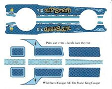 Wild Breed Cougar Funny Car 1/24th - 1/25th Scale Decals