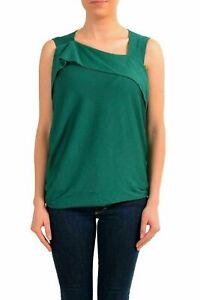 Maison-Margiela-1-Women-039-s-Wool-Silk-Green-Sleeveless-Top-US-S-IT-40