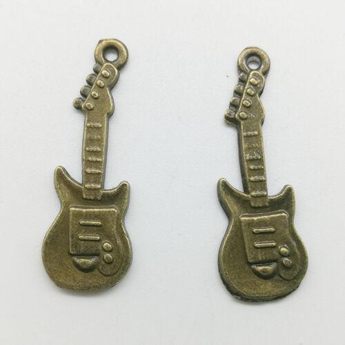 10//30pcs Guitar Charms Pendants DIY Jewelry Accs For Bracelet Earrings 30*10mm