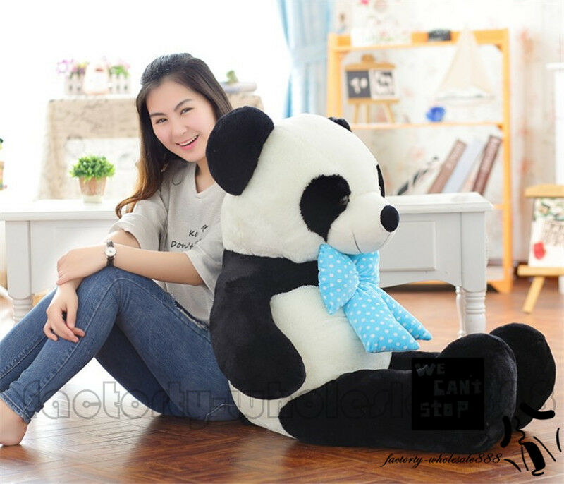 47'' Giant Big Huge Panda Teddy Bear plush Soft Toys doll pillow Birthday gift