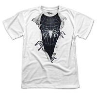SYMBIOTE Spiderman Ripped Chest T Shirt - Funny comic super hero - Sizes S-3XL