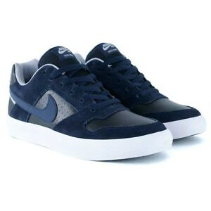 35084342773818 Nike SB Delta Force Vulc Black Blue White Suede Skate Shoe Brand New ...