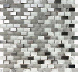 glass mother of pearl stainless steel mosaic tile kitchen backsplash