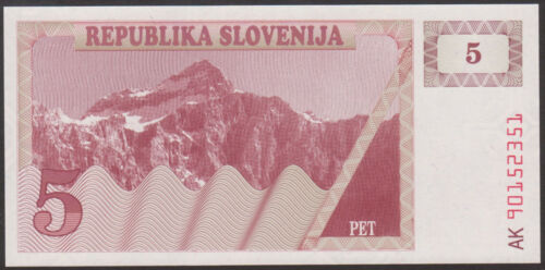 5  TOLARJEV  1990  Uncirculated SLOVENIA P 3