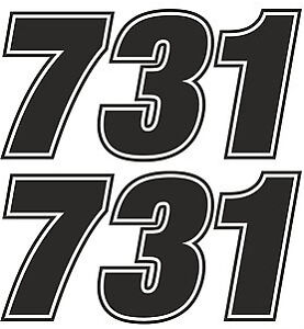 race numbers motocross edurance car motorbike vinyl sticker graphic decal ebay. Black Bedroom Furniture Sets. Home Design Ideas