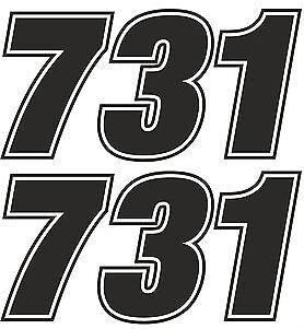 Race Numbers Motocross Edurance Car Motorbike Vinyl Sticker Graphic Decal