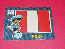 PANINI FOOTBALL 1978 ECUSSON JEAN DENIM PERU PEROU ARGENTINA 78 WC WM MUNDIAL