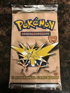 1999-Pokemon-Fossil-Factory-Sealed-1st-Edition-Booster-Pack-11-Cards-Zapdos