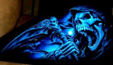 EURO 7 STAGE MULTI LAYER STEP BY STEP AIRBRUSH LASER CUT SKULL STENCIL TEMPLATEN