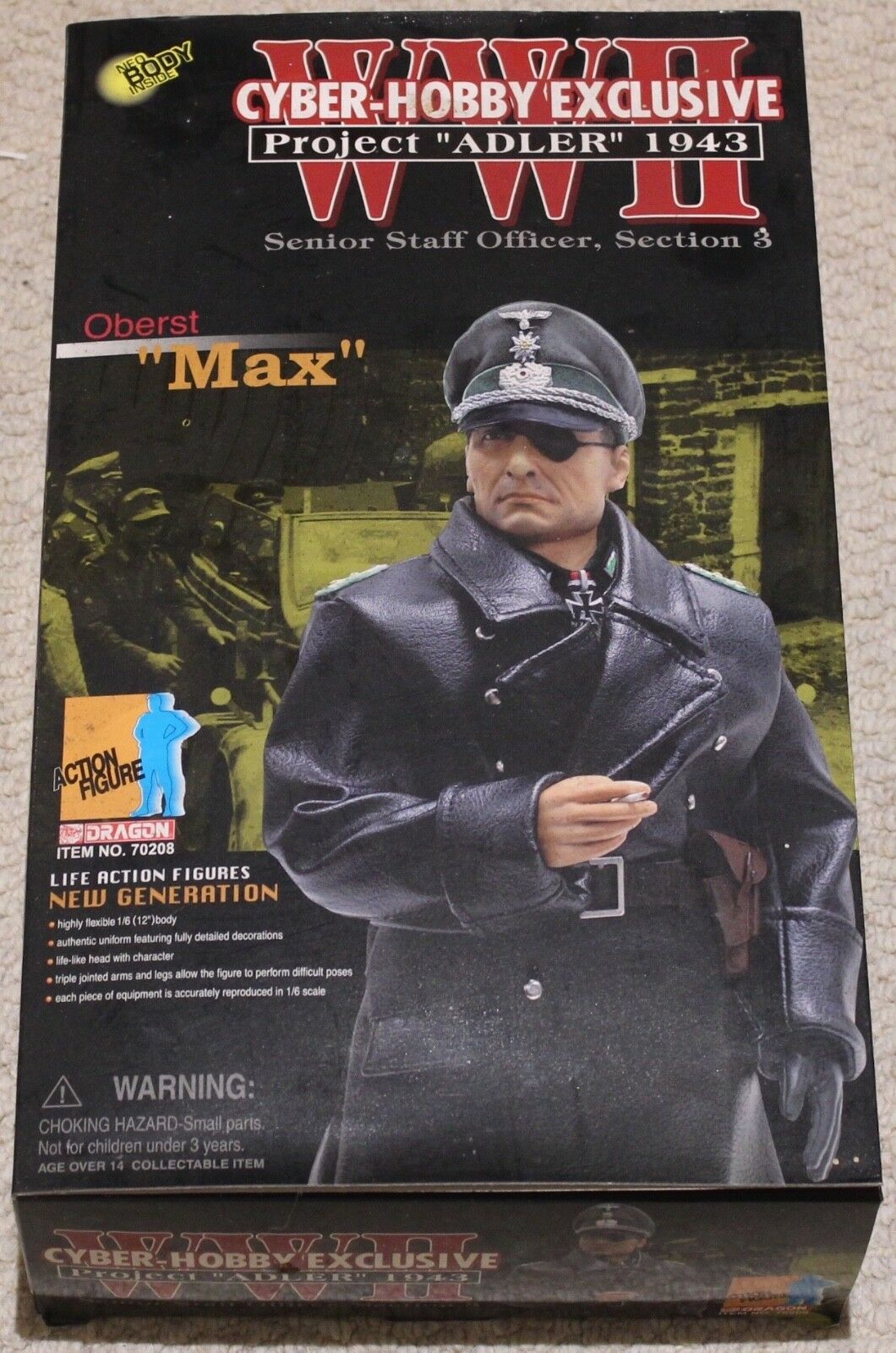 Dragon action figure 1 6 ww11 german max 12'' boxed did cyber hot toy