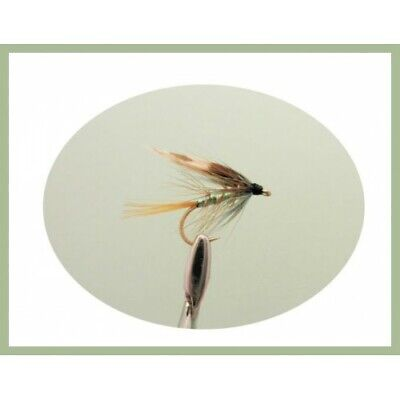 6 x BLACK PENNELL PEARLY FLY FISHING TROUT FLIES size 12