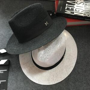 Men-Women-Summer-Straw-Wide-Brim-Panama-Fedora-Trilby-Hat-Sunshade-Gentle-Cap