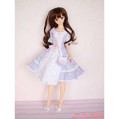 Volks HTDP Sendai Super Dollfie Violet Stripe Dress Set SD SDGr DD DDS DDdy 1/3