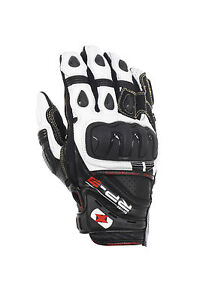 Oxford-RP-3-Leather-Short-Sport-Motorcycle-Motorbike-Black-White-Glove-T