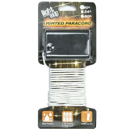 Light Em Up Lighted Paracord Multiple Colors /& Lengths Battery Operated