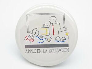 Vintage Ordinateur Apple employé Pin Bouton Retour Apple Education PICASSO MAC 128k