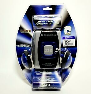 GPX Blue Ice Cassette Player With Am/ Fm Radio NOS Sealed!