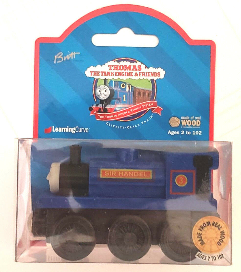 THOMAS & FRIENDS WOODEN RAILWAY - SIR HANDEL 1999  - ABSOLUTELY MINT NEW IN BOX