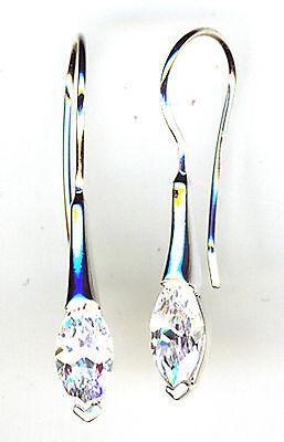 """925 Sterling Silver Clear Cubic Zirconia 1 Piece Drop dangle Earrings L.1.1//3/"""""""