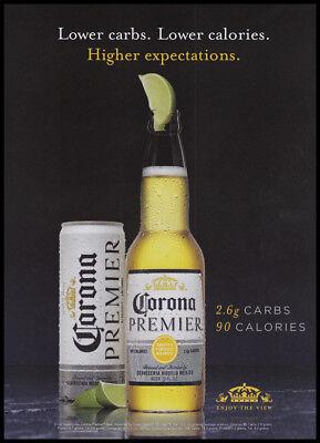 Corona Premier Beer Print Ad 2018 Can Bottle Lime Ebay