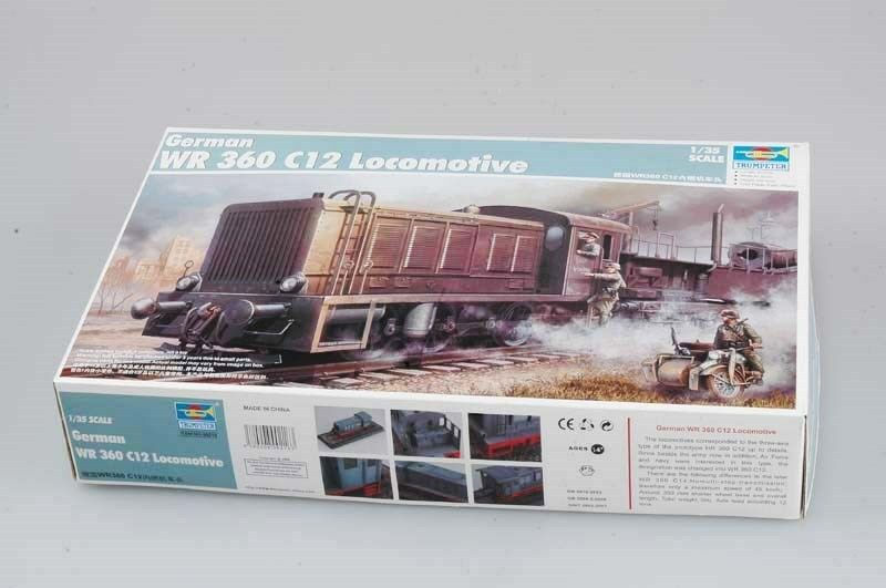 Trumpeter 00216 German WR360 C12 Diesel Locomotive 1 35 Scale Static Armor Car